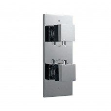 Thermatik-S in-wall thermostatic shower valve with 5-way diverter