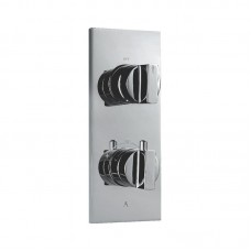 Thermostatic shower valve with 2-way divertor